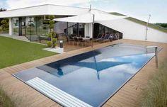 LOFT: Aussergewöhnliche Überlaufbecken von Leidenfrost | Crystal-Schwimmbäder… Loft, Infinity Pool, Outdoor Decor, Home Decor, Arquitetura, Luxury Living, Pool Ideas, Swiming Pool, Backyard Patio