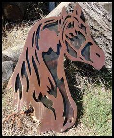 Brand New Horse Head 2D Metal Art by TwiztedSteelMetalArt on Etsy, $69.95