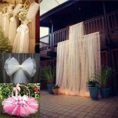 "Bolt Tulle 54""x40Yards Tutu Fabric Nylon Pew Bow Bridal Favor Party Wedding Decorations-L1"