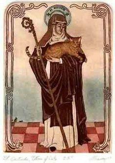 Saint Gertrude patron of cats
