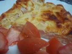 Quiche de tomate, pavo y queso