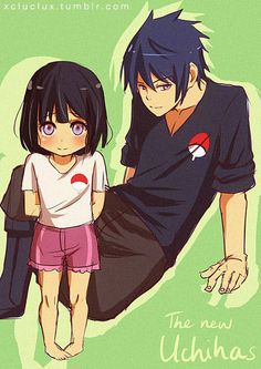 I thought I would make the 2000th pin extra special and share some xclubearx art❗This is cute. I love it!! <3 , 'The New Uchiha's' By xcluclux - Tumblr xclubearx - deviantart. #sasuhina #cutekids <3 I Love #xclubearx designs ⭐~