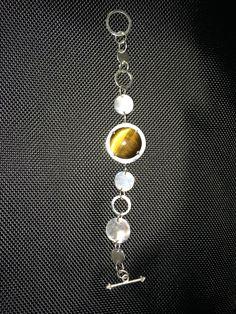 Tiger eye handmade silver bracelet