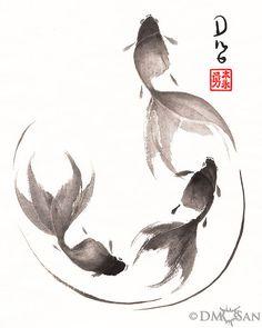 Follow the Leader Goldfish 8x10 Print por DMoSan en Etsy