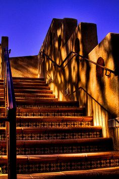 The Stairway at Tlaquepaque, Mexico~Beautiful. Tlaquepaque in Sedona Arizona was created by a man who fell in love with Tlaquepaque Mexico. Cinnamongirl