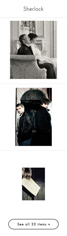 """""""Sherlock"""" by potato-cloud on Polyvore featuring sherlock, bbc, bbcsherlock, sherlockholmes, sirarthurconandoyle, benedict cumberbatch, black and white, images, pictures and home"""