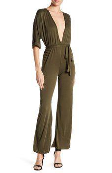6cee1901326e EMORY PARK - Deep V-Neck Solid Jumpsuit Shopping Websites