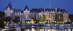 The Empress Hotel, located in Victoria, Canada, opened in 1908 and catered to tourists traveling on the Canadian railway. In 1980, it became a national historic site recognized for its architectural significance as a Chateau-style hotel. Guests can visit this hotel today for a chance to experience the very best architectural history. (via @Darla Runge Hotels & Resorts www.fairmont.com)