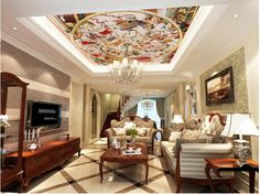 30.00$  Watch here - http://alipae.shopchina.info/go.php?t=32545205365 - Custom 3D ceiling wallpaper, European style of ancient Rome medieval for the living room bedroom ceiling wall papel de parede 30.00$ #aliexpress