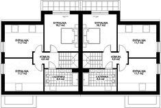 Projekt domu Karmel BL 124,5 m2 - koszt budowy 195 tys. zł - EXTRADOM Floor Plans, Floor Plan Drawing, House Floor Plans