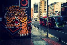 """@iCristianSgl: """"cuando ruge el tigre, no rebuzna el burro"""" Carrera 7- Bogota @Toxicomano [2015.02.06] via twitter Drawing S, Vintage Art, Modern Art, Graphic Art, Graffiti, Artsy, Superhero, Wall Art, Murals"""
