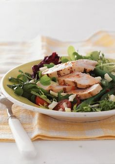 Rustic Chicken Salad with Spring Vegetables