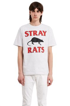 Stray Rats, Rodenticide Tee This classic-fit tee features Stray Rats' signature logo print at the front., Crewneck, Ribbed collar, Straight fit, 100% cotton, Imported