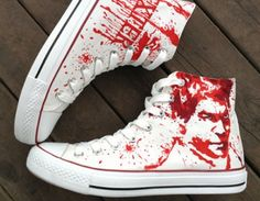 d3d32bd5a813 Dexter Shoes Dexter Morgan Hand Painted Shoes. Custom Converse ...