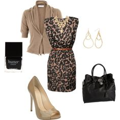 Casual Outfits - Leopard Dress, created by tonikruck