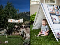 Camping First Birthday Party {Camp Jack} | Sweet Little Peanut