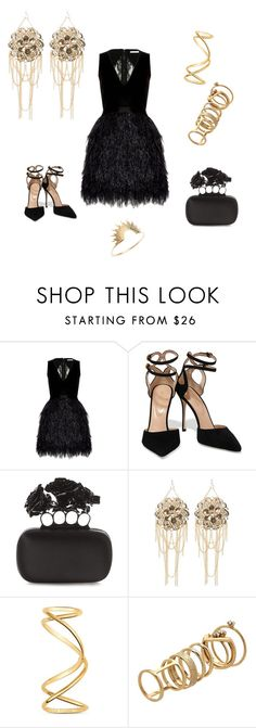 """Untitled #96"" by dr-azzko ❤ liked on Polyvore featuring mode, Alice + Olivia, Sergio Rossi, Alexander McQueen, Bebe, Maison Margiela, Lipsy et Sarah & Sebastian"