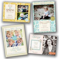 INSTANT DOWNLOAD - Photography Marketing board - Newsletter template Collection - 0697-700 via Etsy