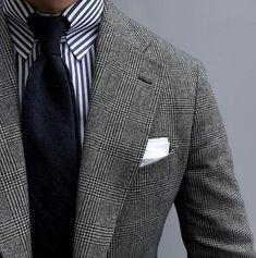 my favorite pattern. Best Mens Fashion, Mens Fashion Suits, Mens Suits, Business Attire, Business Outfits, Business Fashion, Formal Men Outfit, Mens Attire, Fashion Moda