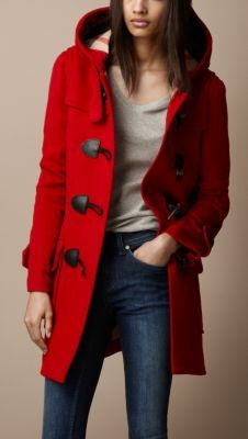 A wool duffle coat by Burberry