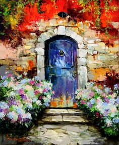Provence door 80x65 oil on canvas 2016