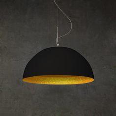MEZZA LUNA 1 - Suspension Noir/Or In-es Artdesign