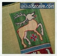 www.racaire.com - Working at an embroidered 14th century pouch for the 9th blog-birthday raffle .8 - just 3 days left! Front side deer finished :D  Wooohoooo! Countdown! Just 3 days! …and I finished the front side deer !   Even more hours of embroidery – yes, I am still working really hard at the embroidered 14th century pouch for the raffle!   http://www.racaire.com/2014/04/02/embroidered-14th-century-pouch-for-the-9th-blog-birthday-raffle-8/