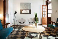 Enduring Perfection of Black and White Tile Floors (Casa Helsinki)