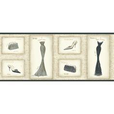 "York Wallcoverings�10-1/4"" Vintage Dress Prepasted Wallpaper Border Lowes"