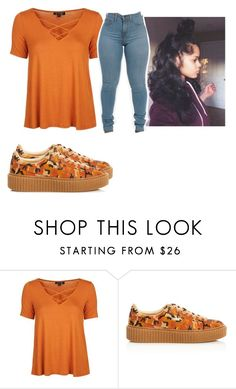 """Fall🍂🎃"" by girl-outfits ❤ liked on Polyvore featuring Topshop and Puma"