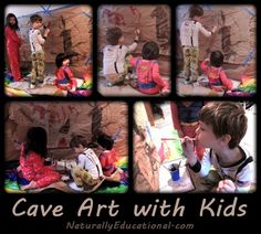Making Cave Art with kids to learn about the stone age.
