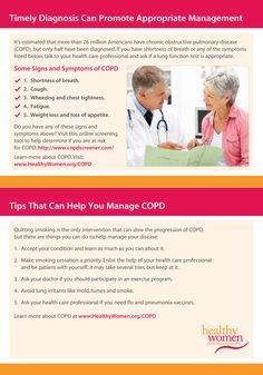 Chronic Obstructive Pulmonary Disease (COPD) Tip Card #copd