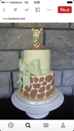 monthly baby cakes inspo This cake is beautiful! Just the flow of the pastels makes me live it. Pretty Cakes, Cute Cakes, Beautiful Cakes, Amazing Cakes, Beautiful Kids, Baby Cakes, Cupcake Cakes, Giraffe Cakes, Safari Cakes