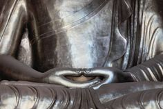 Dhyana, or Samadhi mudra, is the hand gesture that promotes the energy of meditation, deep contemplation and unity with higher energy.     The circling of energy created by the triangle (formed when the thumbs of the two hands touch) also promotes a cleansing of any impurities on an etheric level. Just by looking at this Buddha hand gesture (let alone practicing it!) one can connect to the energy of deep peace and serenity.