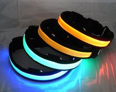 Illuminating Dog Collars. Glow in the Dark Products & Items.