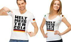 """Groupon - Jersey T-Shirt """"Weltmeister 2014"""" für Damen oder Herren in verschiedenen Größen für 12,99 € (67% sparen) in Online einlösbar. Groupon Angebotspreis: 12,99€"""