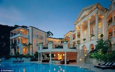 Luxurious: Rihanna has bought a sprawling home at One Sandy Lane, where stars including Simon Cowell have stayed