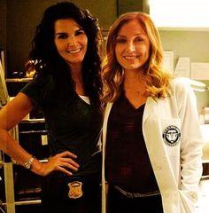 Angie and Sasha on set :)