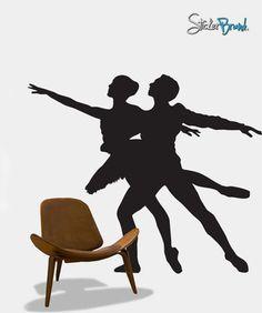 Vinyl Wall Decal Sticker Dual Ballet Ballerina Dancer #313 | Stickerbrand wall art decals, wall graphics and wall murals.