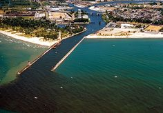 5 Road Trips In Michigan That'll Leave You With Unforgettable Memories  This is an aerial view of St. Joseph, MI