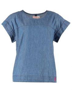Holmes Bros Womens Denim T-Shirt Denim T Shirt, Lifestyle Store, Silver Drop Earrings, Cool Outfits, Mens Tops, Shirts, Clothes, Women, Fashion