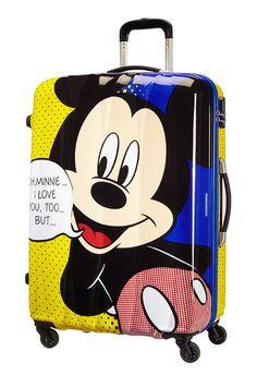 American Tourister Disney Legends 75cm 4 Wheel Spinner Case - Mickey Pop