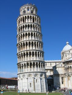 "Campanile ""Leaning Tower of Pisa"" Bell Tower, c. 1174, Pisa, Italy (Romanesque, Medieval Art c. 1050-1200 AD)"