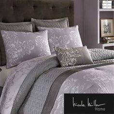 Nicole Miller Gray Fl Damask Queen Comforter Set Http Www Dp B00mkdhmds Ref Cm Sw R Pi Pdbwvb1ht5t
