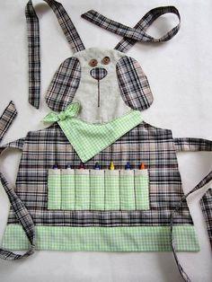 Crayon art apron - too cute!