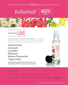 Embrace Love :: Rollerball MOOD Series Make & Take. Valentine's Day #stopdropandoil. www.StopDropAndOil.com