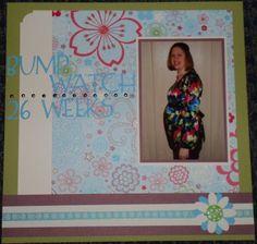 Pregnancy scrapbook page