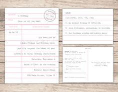 Modern Library Card Wedding Invitation and RSVP by CooperJane, $35.00