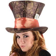 Costumes Alice in Wonderland Movie Mad Hatter Hat One-Size, Women's, Brown