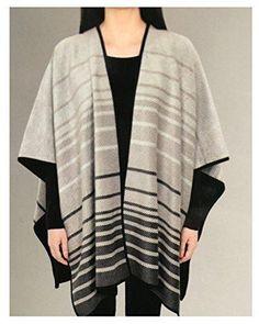 Ike Behar Ladies' Reversible Fashion Wrap multi-Color one Size Black Plaid